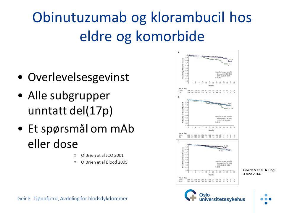 Obinutuzumab og klorambucil hos eldre og komorbide