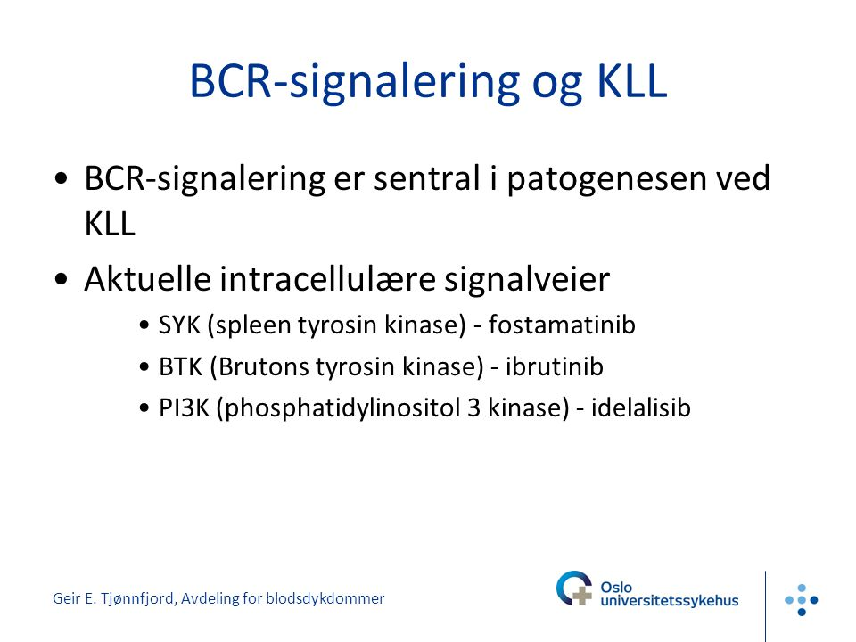 BCR-signalering og KLL