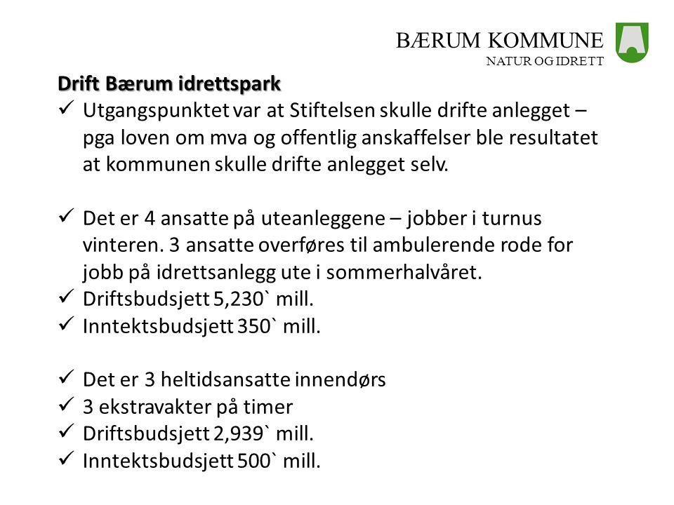 Drift Bærum idrettspark