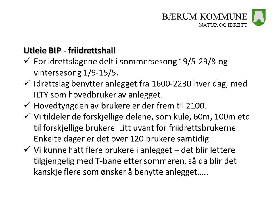 Utleie BIP - friidrettshall