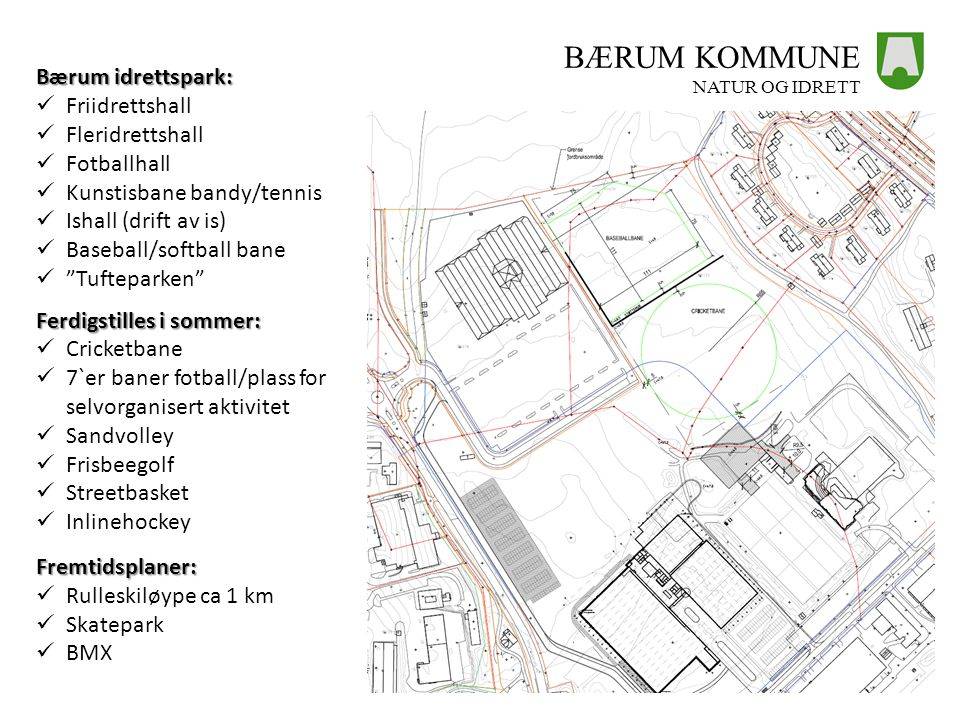 BÆRUM KOMMUNE Bærum idrettspark: Friidrettshall Fleridrettshall