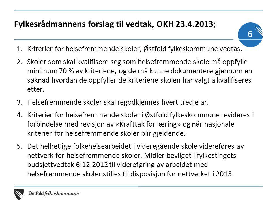 Fylkesrådmannens forslag til vedtak, OKH 23.4.2013;