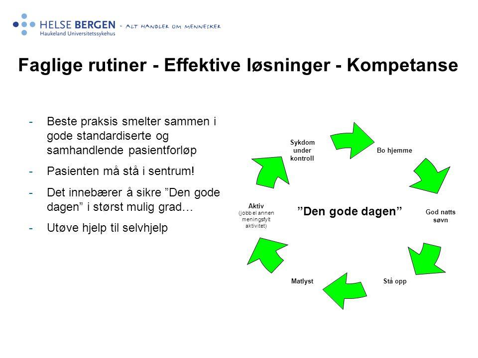 Faglige rutiner - Effektive løsninger - Kompetanse