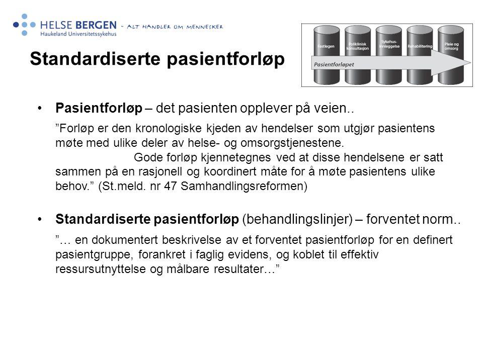 Standardiserte pasientforløp
