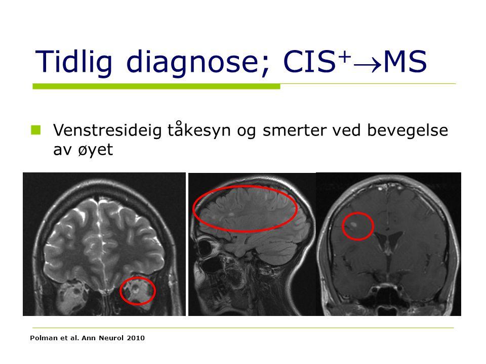 Tidlig diagnose; CIS+MS