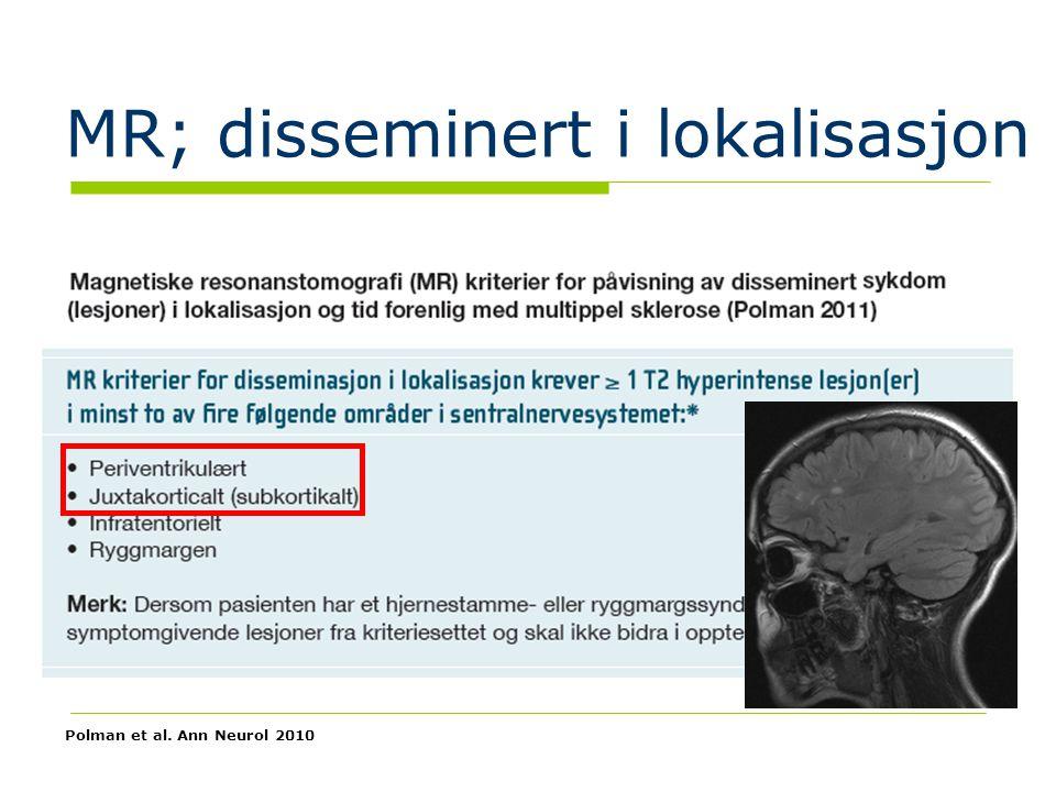 MR; disseminert i lokalisasjon