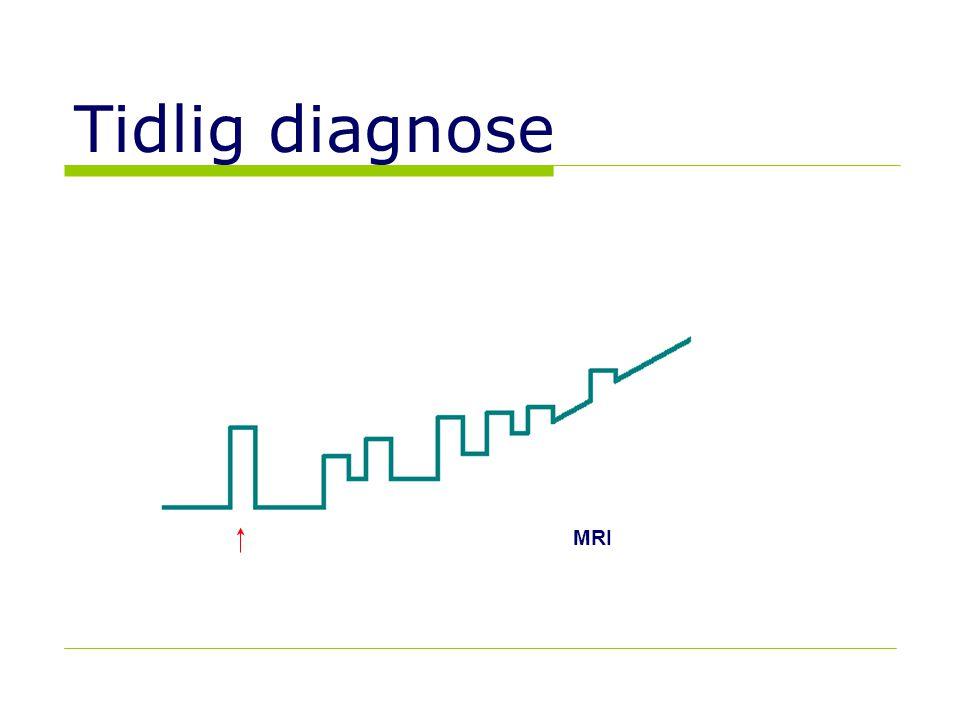 Tidlig diagnose Klinisk isolert syndrom CIS  MRI-Gd+ MRI