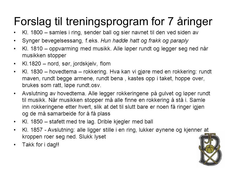 Forslag til treningsprogram for 7 åringer