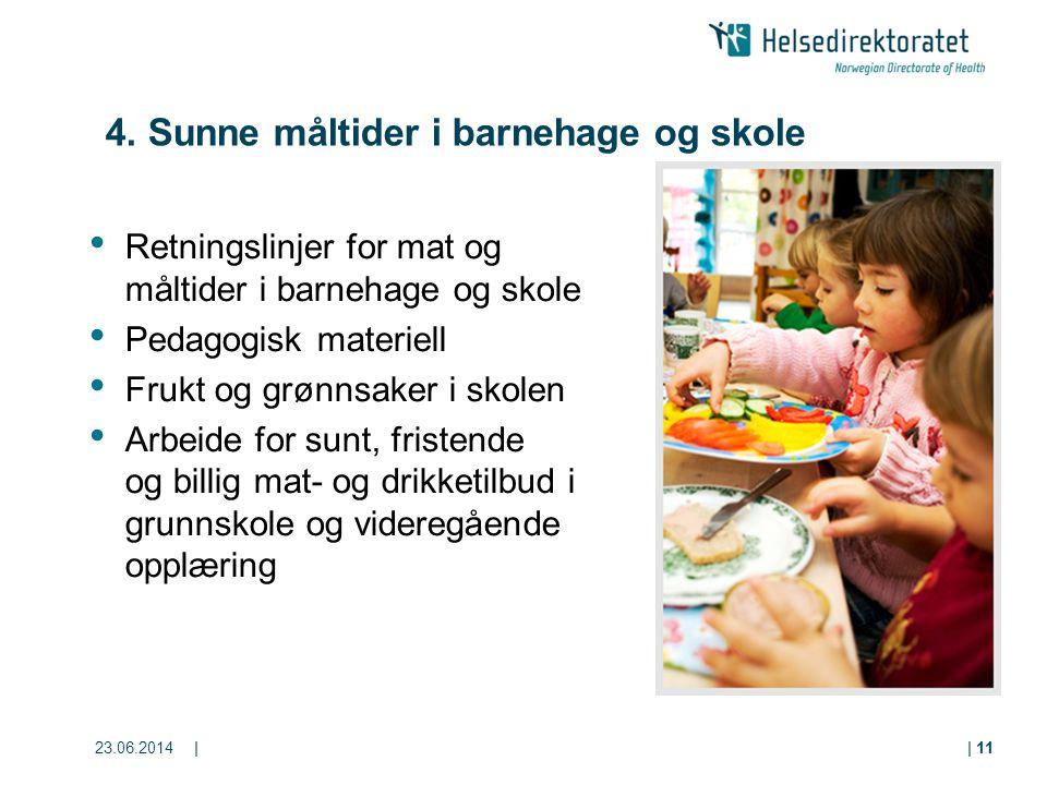 4. Sunne måltider i barnehage og skole