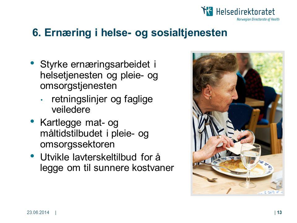 6. Ernæring i helse- og sosialtjenesten