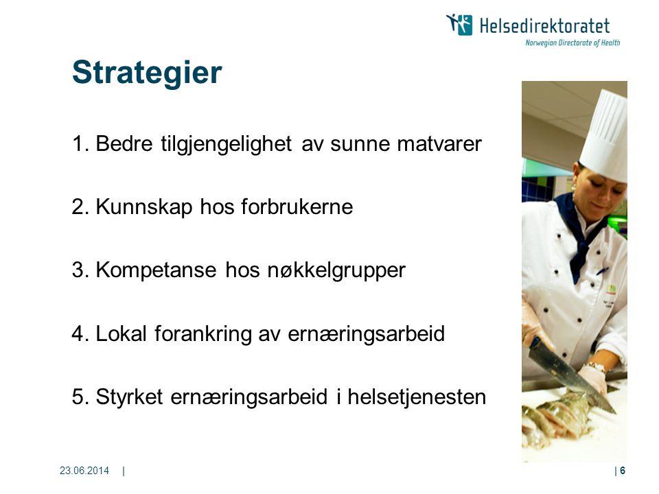 Strategier 1. Bedre tilgjengelighet av sunne matvarer
