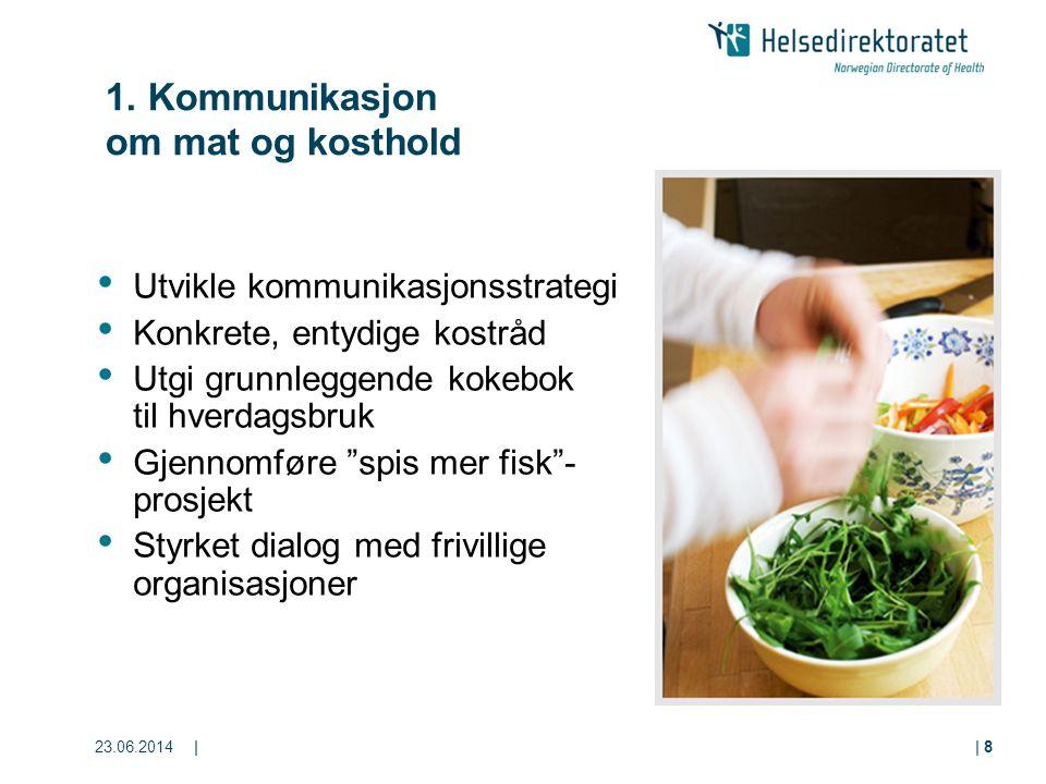 1. Kommunikasjon om mat og kosthold