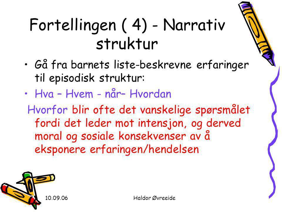 Fortellingen ( 4) - Narrativ struktur