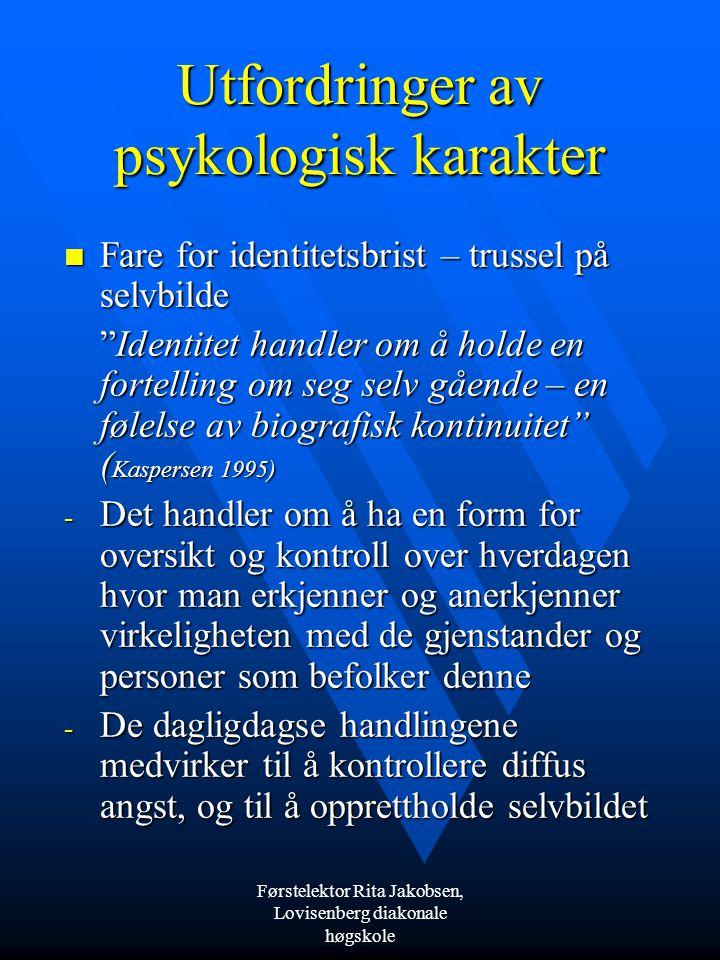 Utfordringer av psykologisk karakter