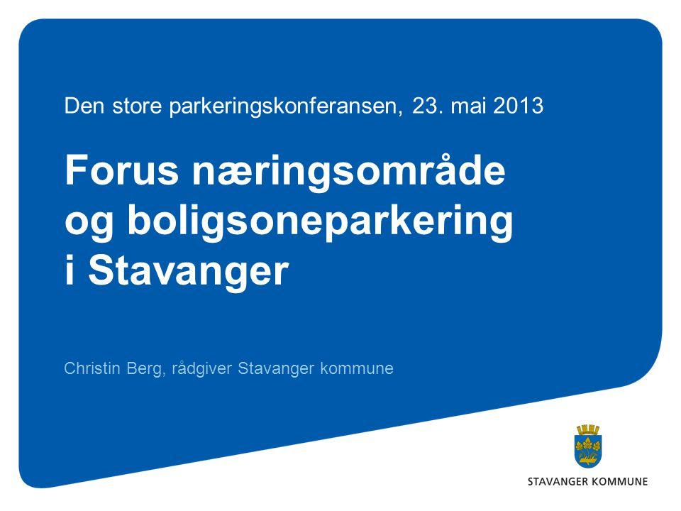 Forus næringsområde og boligsoneparkering i Stavanger