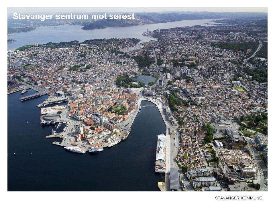 Stavanger sentrum mot sørøst
