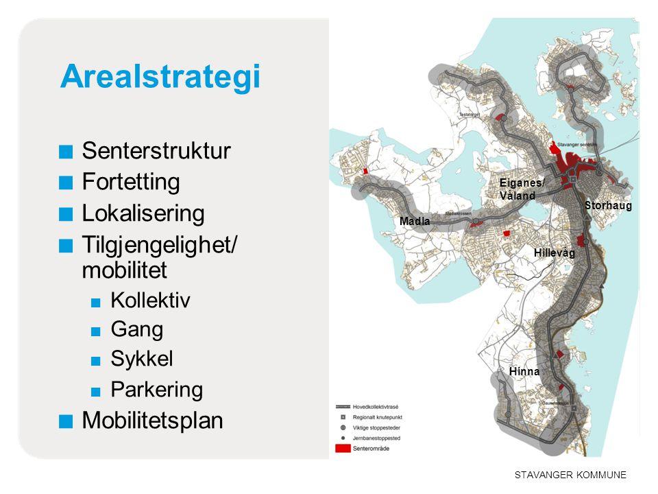 Arealstrategi Senterstruktur Fortetting Lokalisering
