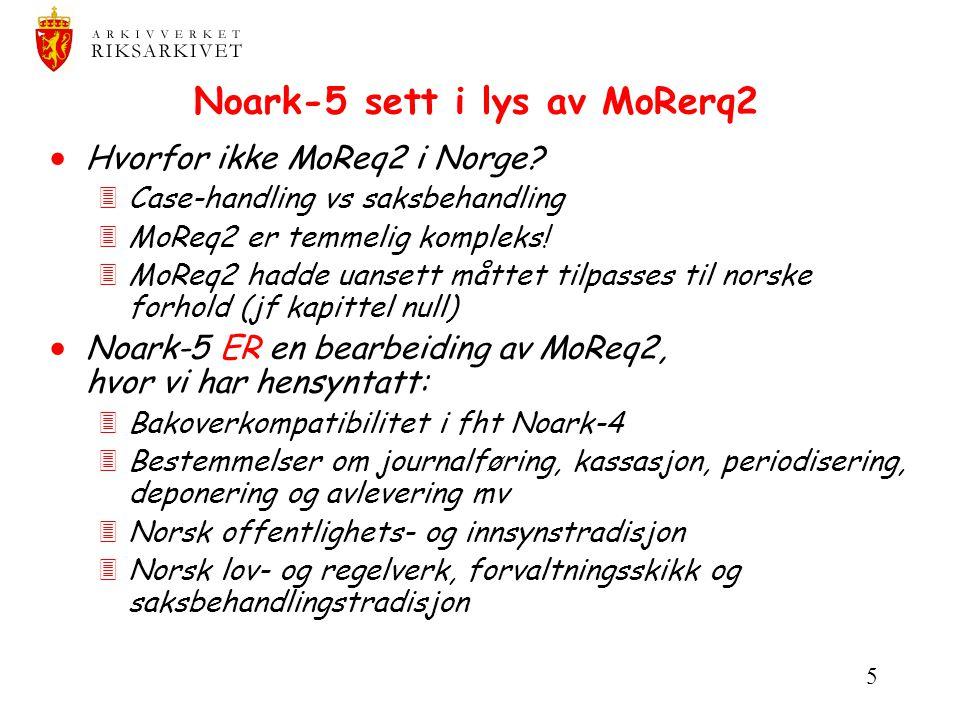 Noark-5 sett i lys av MoRerq2