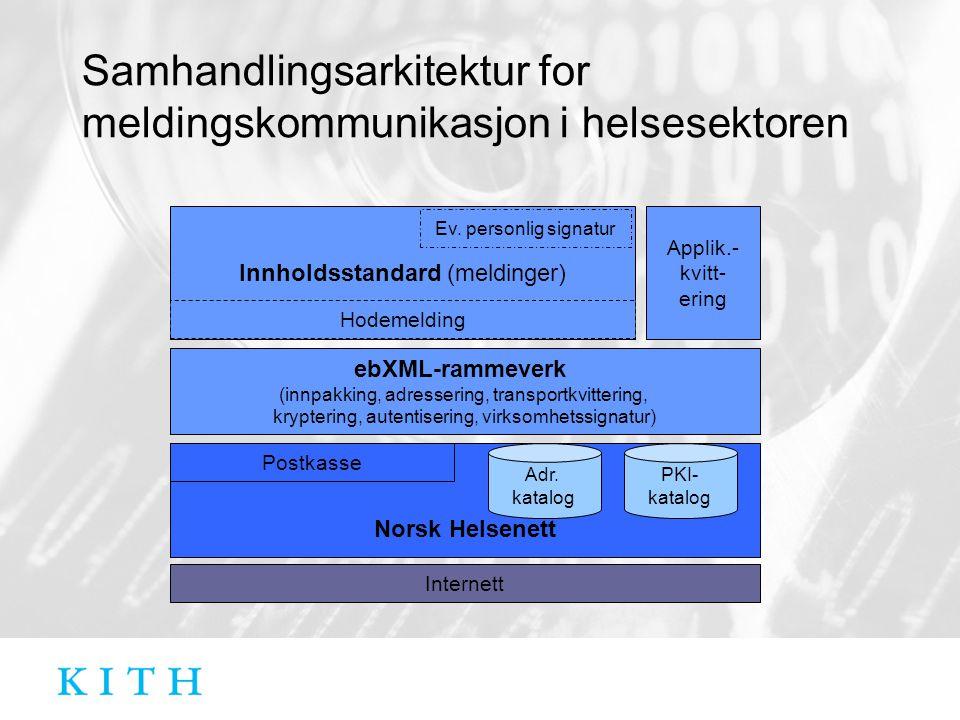 Samhandlingsarkitektur for meldingskommunikasjon i helsesektoren