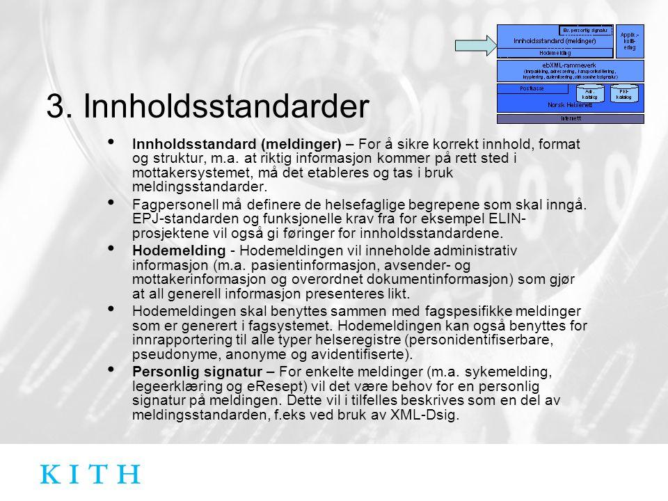 3. Innholdsstandarder