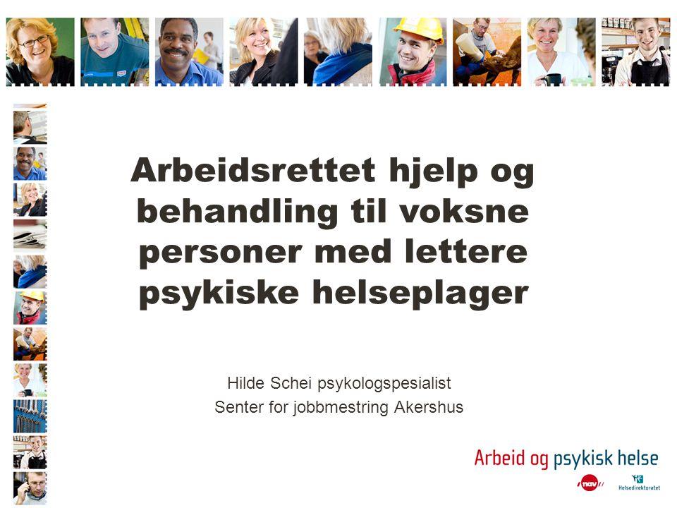 Arbeidsrettet hjelp og behandling til voksne personer med lettere psykiske helseplager