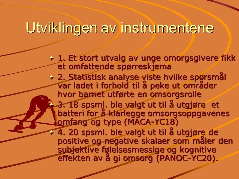 Utviklingen av instrumentene