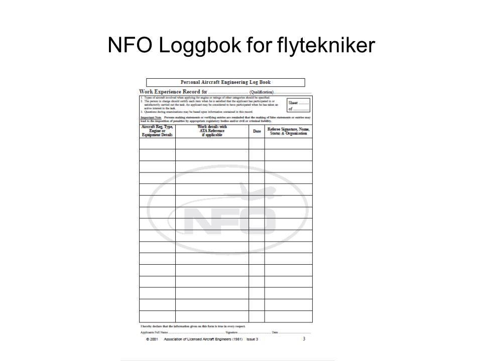 NFO Loggbok for flytekniker