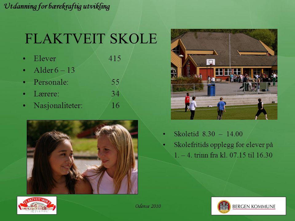 FLAKTVEIT SKOLE Utdanning for bærekraftig utvikling Elever 415