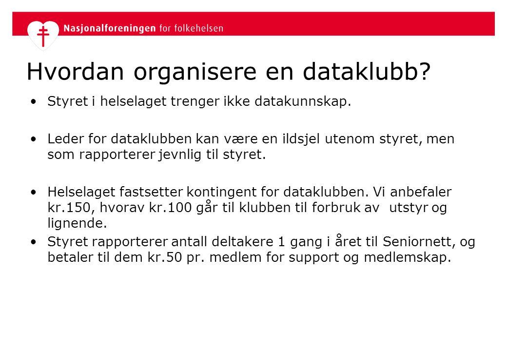 Hvordan organisere en dataklubb