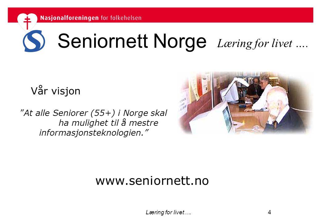 Seniornett Norge . Læring for livet …. www.seniornett.no Vår visjon