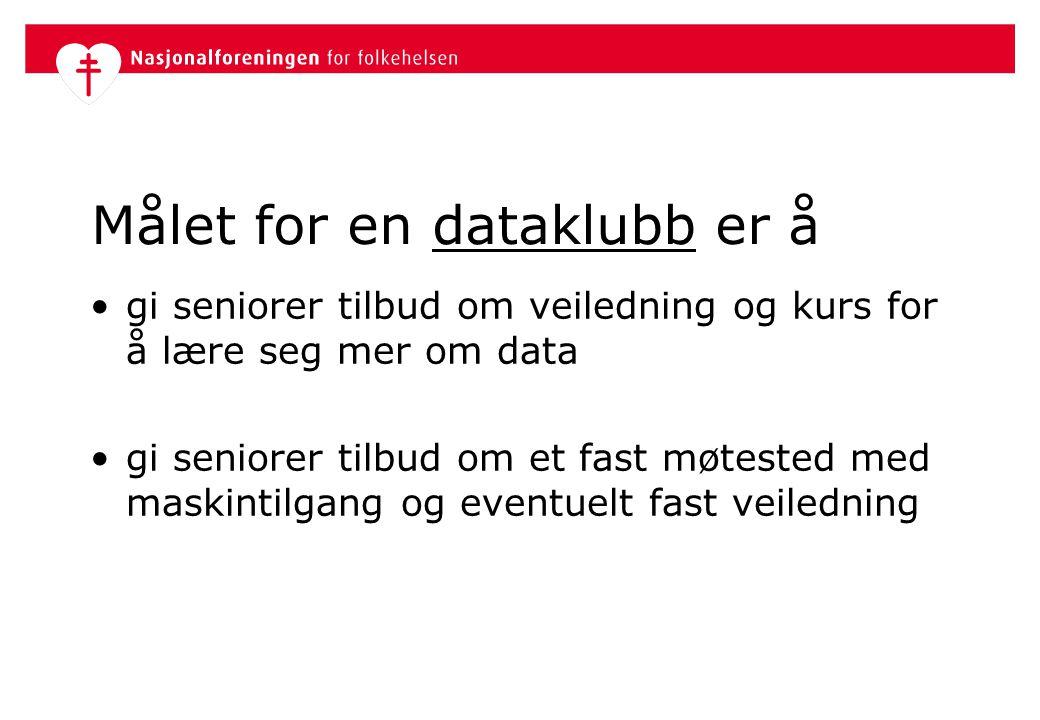 Målet for en dataklubb er å