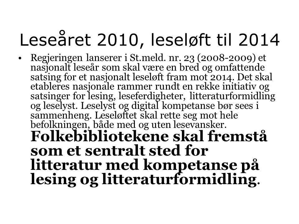 Leseåret 2010, leseløft til 2014