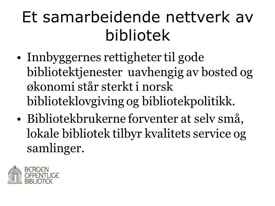 Et samarbeidende nettverk av bibliotek