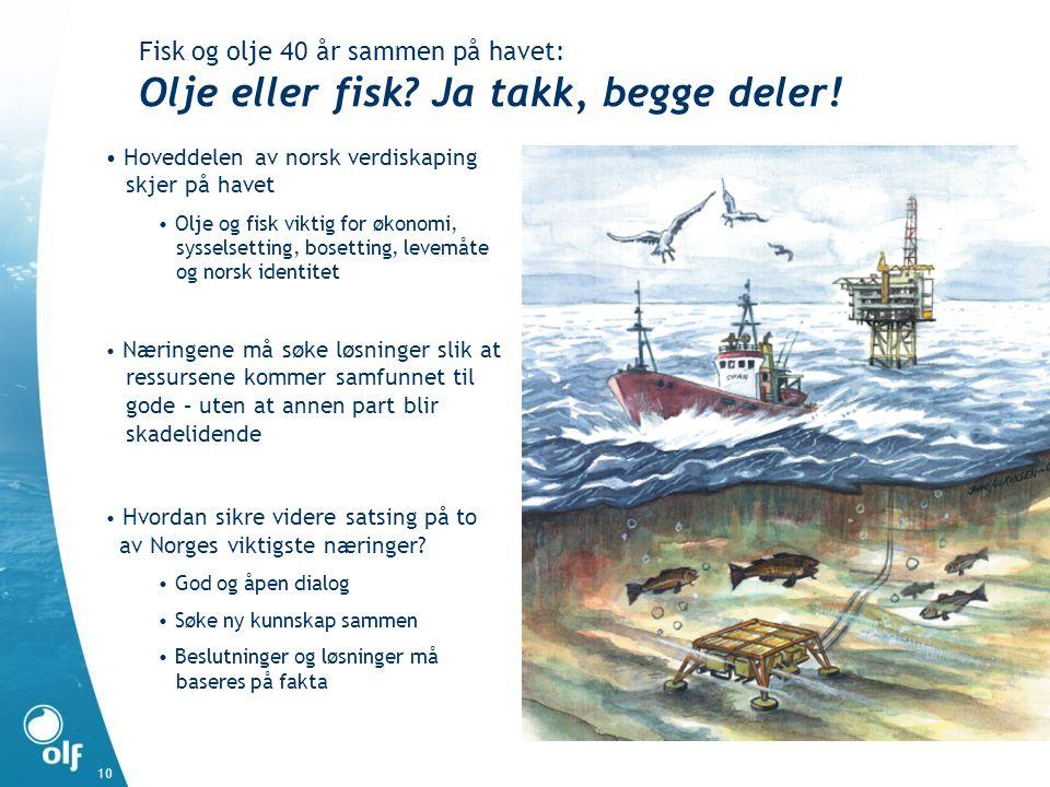Fisk og olje 40 år sammen på havet: Olje eller fisk