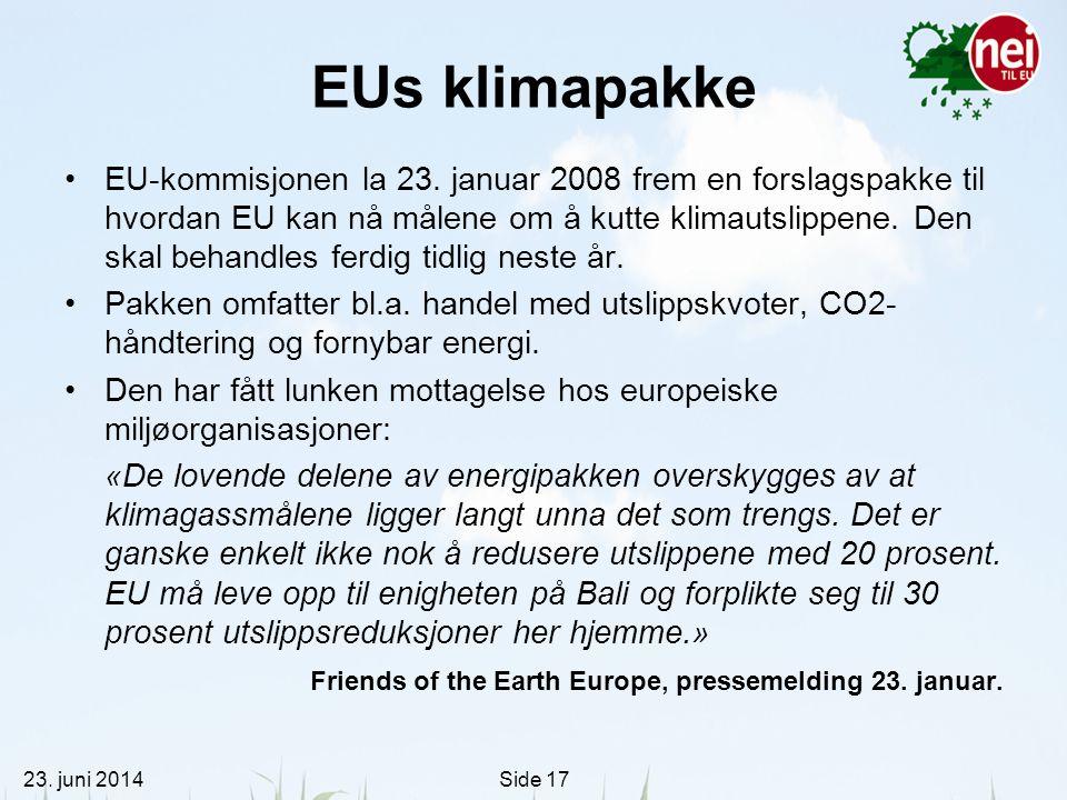 EUs klimapakke