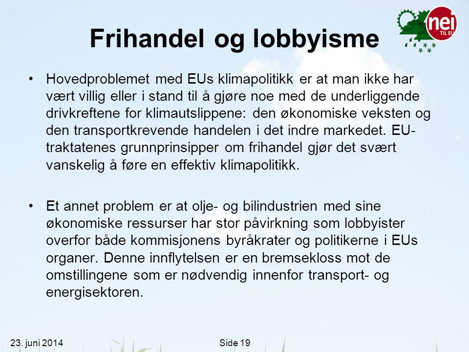 Frihandel og lobbyisme