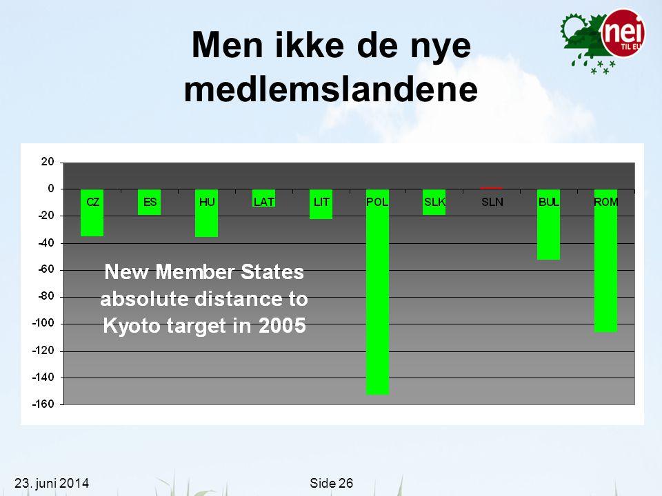 Men ikke de nye medlemslandene