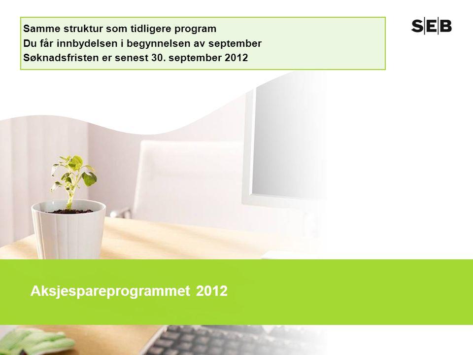 Aksjespareprogrammet 2012