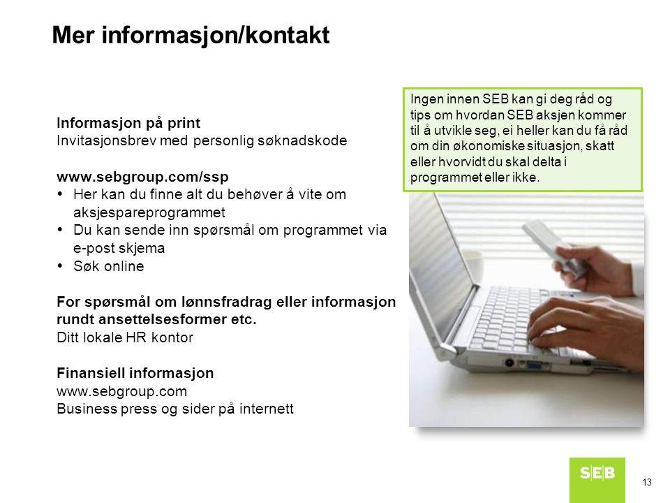 Mer informasjon/kontakt