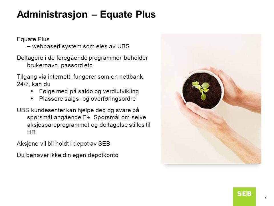 Administrasjon – Equate Plus