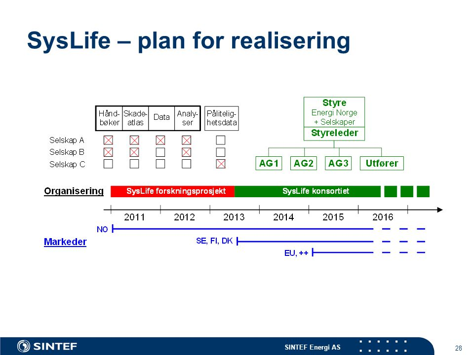 SysLife – plan for realisering