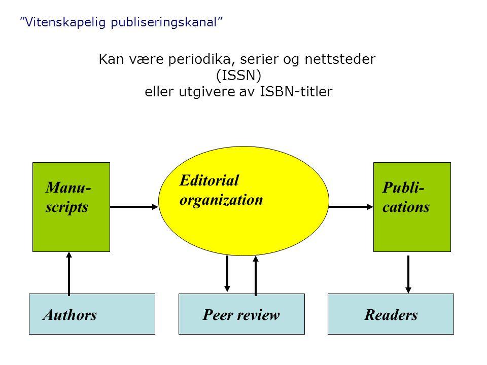 Vitenskapelig publiseringskanal