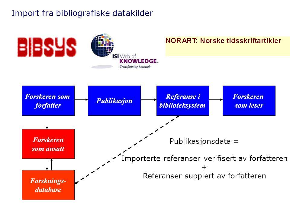 Import fra bibliografiske datakilder
