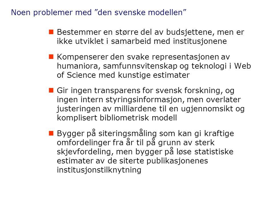 Noen problemer med den svenske modellen