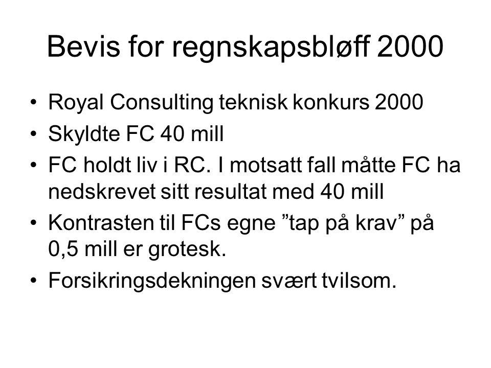 Bevis for regnskapsbløff 2000