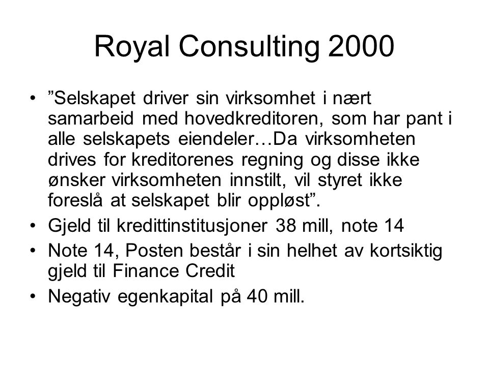 Royal Consulting 2000