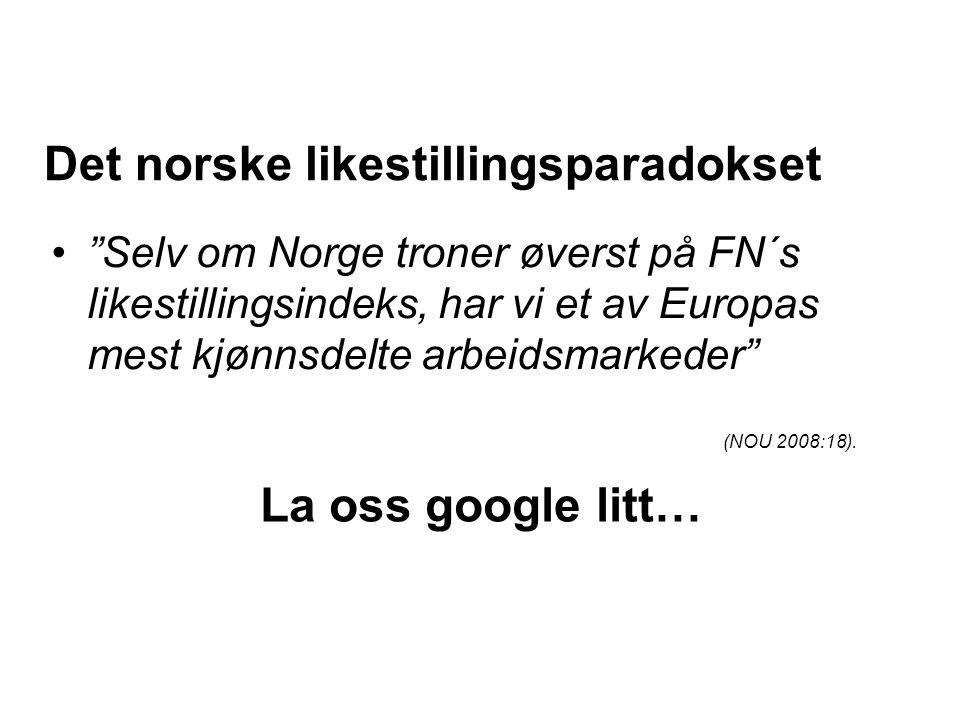 Det norske likestillingsparadokset
