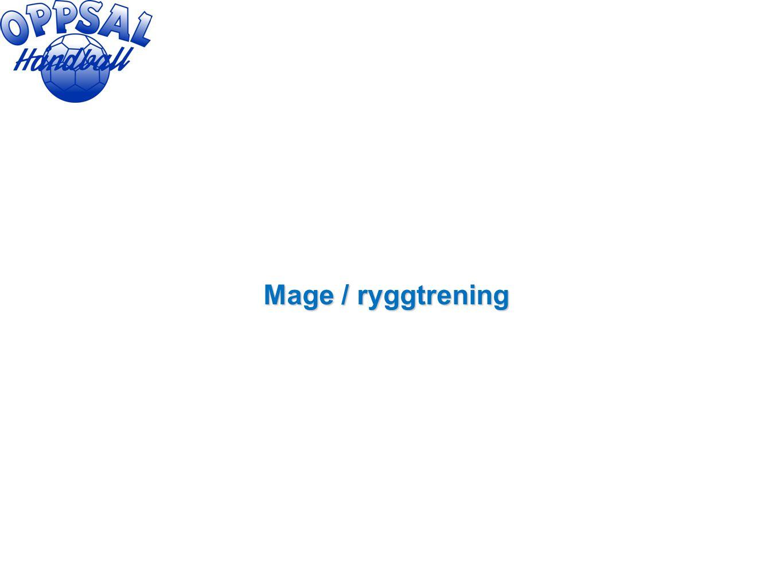 Mage / ryggtrening