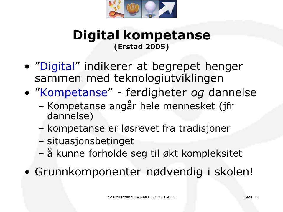 Digital kompetanse (Erstad 2005)