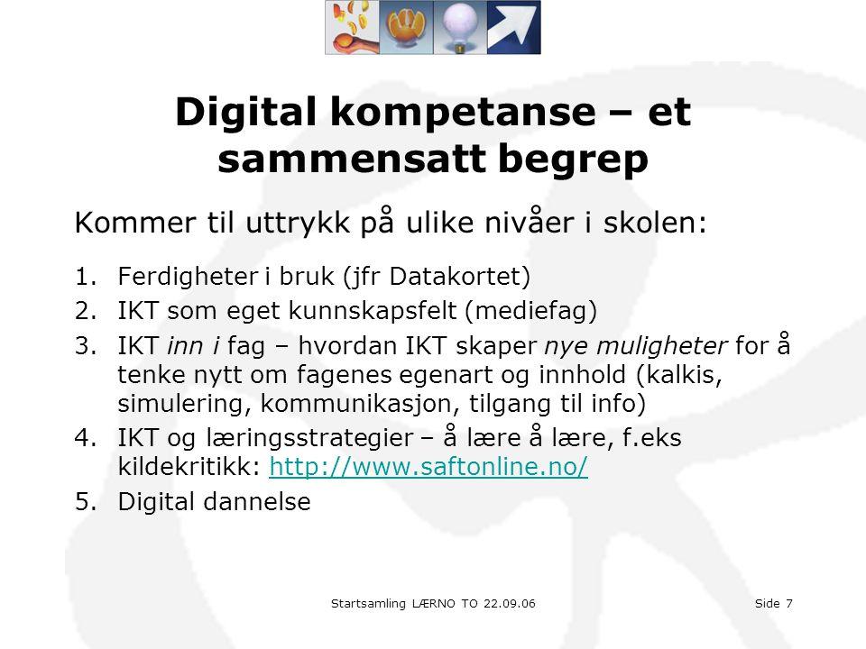 Digital kompetanse – et sammensatt begrep